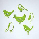 Materiál ručne robený - Výrezy Vtáčiky - 10316652_