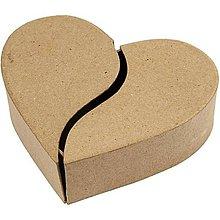Polotovary - Papierová krabica Srdce delená - 10315895_