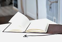Papiernictvo - kožený zápisník BARNABÉ - 10318652_