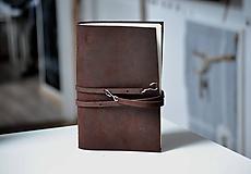 Papiernictvo - kožený zápisník BRIANA - 10318733_