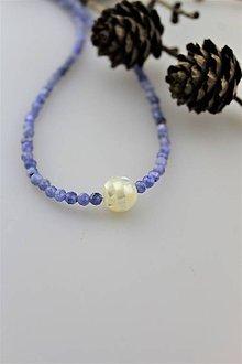 Náhrdelníky - Tanzanit náhrdelník - strieborné zapínanie - 10319430_