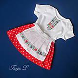 Detské oblečenie - detský ľudový kroj bejby na 6 mesiacov až 3 roky - 10318388_
