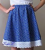 Sukne - folková zvonová sukňa s madeirou - 10319640_