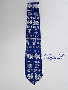 "Doplnky - kravata folk ""modrotlač"" rôzne varianty (III.) - 10319716_"
