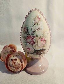 Dekorácie - Veľkonočná kraslica s rúžičkami - 10318200_