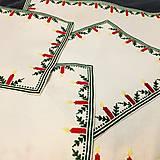 Úžitkový textil - Vianočný obrus - malý 24x24cm - 10315763_