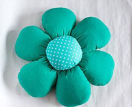 Úžitkový textil - Vankúš kvet - 10319730_