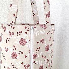 Iné tašky - taška na obedár kvietky - 10319024_