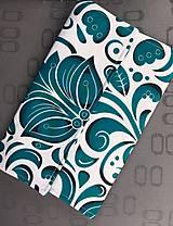 Kabelky - listová kabelka Smaragdový ornament - 10317127_