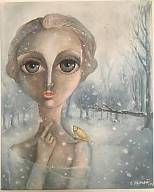 Obrazy - Zimná princezná - 10317662_