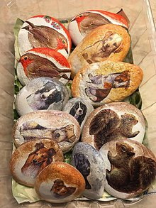 Dekorácie - Kamene - zvieratká - 10316340_
