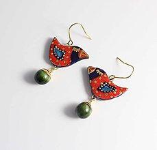 Náušnice - Tana šperky - keramika/zlato - 10315942_