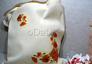 Nákupné tašky - ľanová nákupná taška Vlčie maky - 10318359_