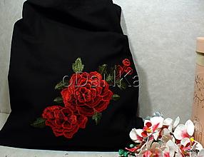 Nákupné tašky - ľanová nákupná taška Ruže - 10318414_