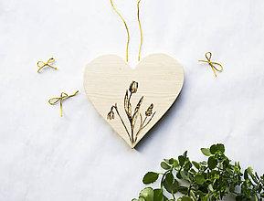 Dekorácie - Srdce na dvere - Vítanie jari - 10319179_