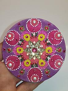 Drobnosti - Magnetka 8cm (piesková mandala) - 10316568_