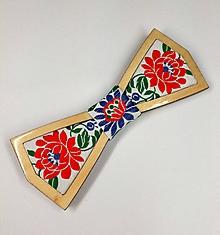 Doplnky - Pánsky drevený motýlik - 10319641_