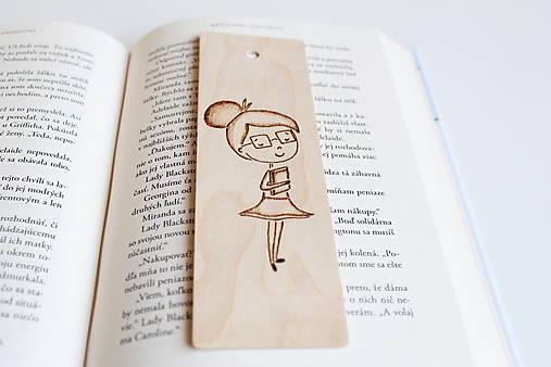 Drevená záložka do knihy