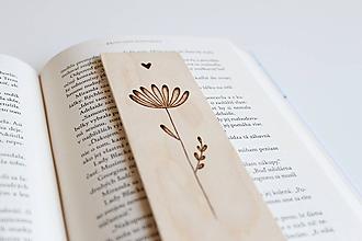 """Papiernictvo - Drevená záložka do knihy """"Si ako kvet"""" - 10318343_"""