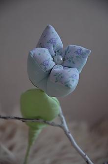 Dekorácie - Kvety mix (Tyrkysová) - 10319365_