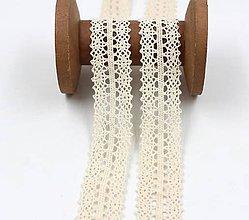 Galantéria - C115 Bavlnená čipka 3 cm / cena za 1 m - 10319265_