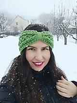 Čiapky - Čelenka v hráškovej zelenej - 10317486_