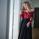 Šaty - Spoločenské šaty so skladanou sukňou rôzne farby - 10318030_