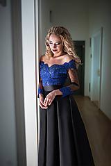 Šaty - Spoločenské šaty so skladanou sukňou rôzne farby - 10318032_
