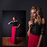 Spoločenské šaty s holými ramenami a úzkou sukňou rôzne farby