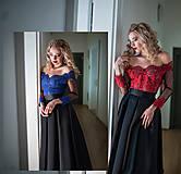 Šaty - Spoločenské šaty so skladanou sukňou rôzne farby - 10318097_