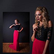 Šaty - Spoločenské šaty s holými ramenami a úzkou sukňou rôzne farby - 10318072_