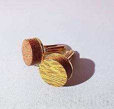 Šperky - manžetové gombíky mahagón de luxe - 10317405_