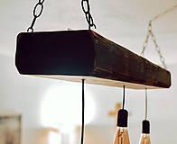 Svietidlá a sviečky - Rustikálny luster s 3 žiarovkami - 10317371_