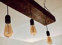 Svietidlá a sviečky - Rustikálny luster s 3 žiarovkami - 10317374_