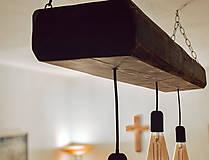 Svietidlá a sviečky - Rustikálny luster s 3 žiarovkami - 10317375_
