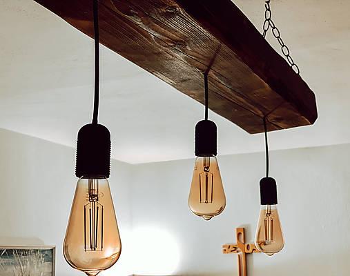 Rustikálny luster s 3 žiarovkami