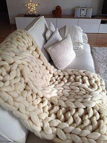 Úžitkový textil - Obria chunky deka - merino vlna - 10162815_