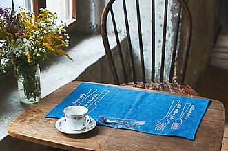 Úžitkový textil - Prestierači (Modrá) - 10320145_