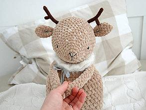 Hračky - Jelenček Hugo / 43 cm - 10318623_