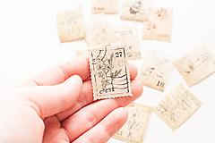 """Papier - Nálepky """" vintage botanické známky"""" - 10319554_"""