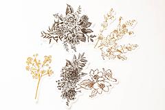 "Papier - Set nálepiek ""Botanická Zlatá"" - 10319755_"