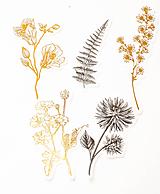 "Papier - Set nálepiek ""Botanická Zlatá"" - 10319784_"