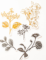 "Papier - Set nálepiek ""Botanická Zlatá"" - 10319787_"
