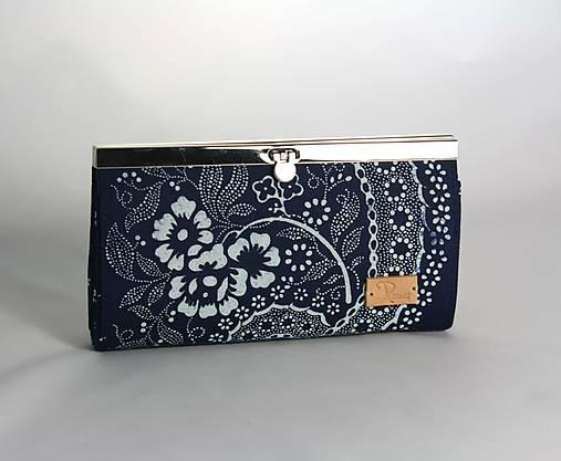 Modrotlačová peňaženka veľká 2