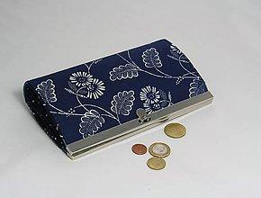 Peňaženky - Peňaženka modrotlač veľká 1 - 10319278_