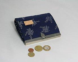 Peňaženky - Peňaženka modrotlač malá 1 - 10319376_