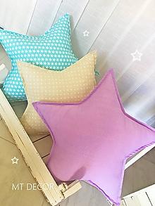 Textil - HVIEZDA - dekoračný vankúšik - 10318087_