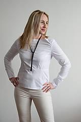 Košele - Biela blúzka - 10316542_