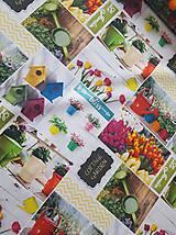 Textil - látka jarné tulipány - 10316262_