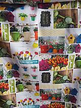 Textil - látka jarné tulipány - 10316263_